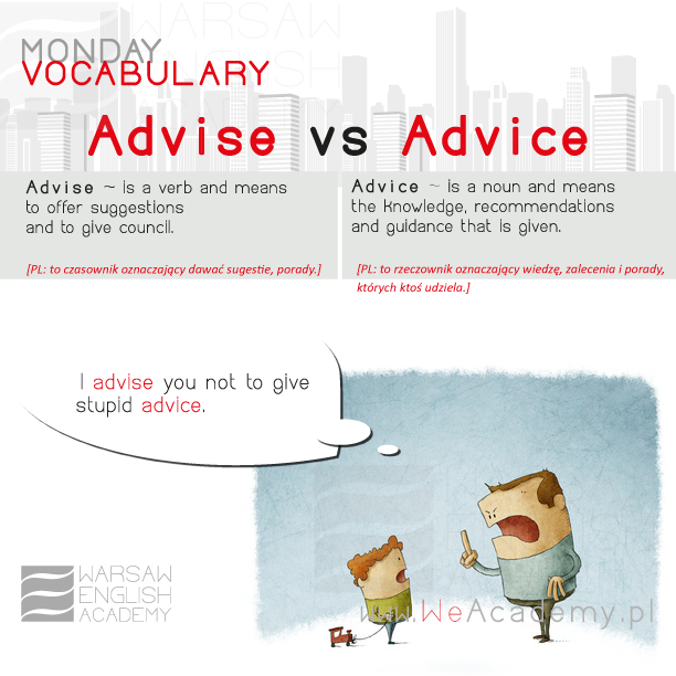 Advise vs Advice