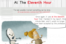 at eleventh hour